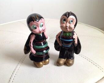 Vintage Ceramic Japanese Bug Figurines