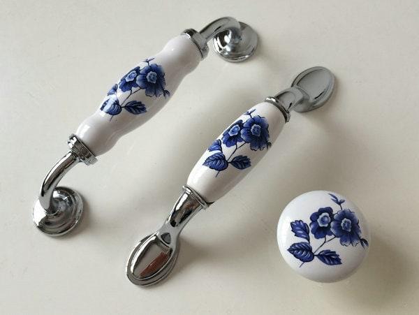 3.75 5 Ceramic Kitchen Cabinet Handle Dresser Knob