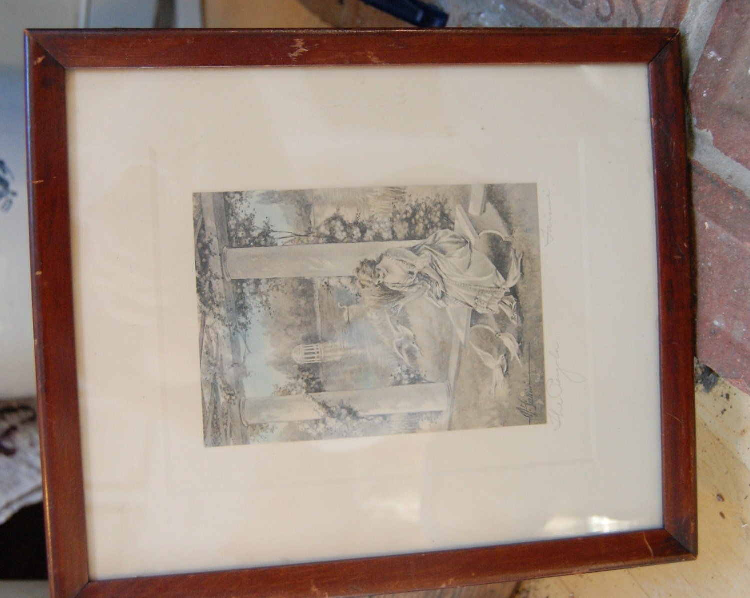 May Farini Artist Early 1900s Signed And Framed Print