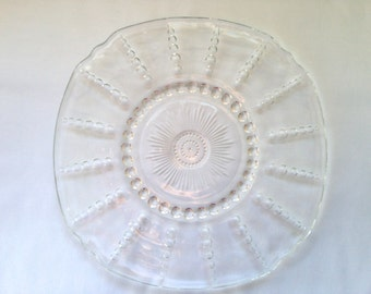 Federal Glass Columbia Chop Plate