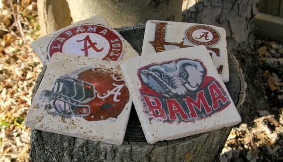 Alabama Crimson Tide Drink Coasters/ Roll Tide Coasters