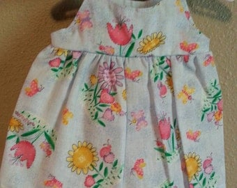 Handmade Cotton Dolls Summer Dress