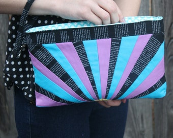 Paper-Pieced Sunrise Clutch PDF Sewing Pattern