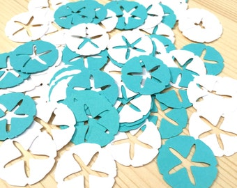 White and Turquoise Beach Confetti