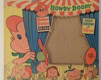 Vintage 50s Howdy Doody Circus Box Pixie Toys NOS