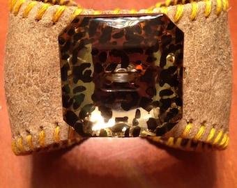 Baseball Cuff with Acrylic Button