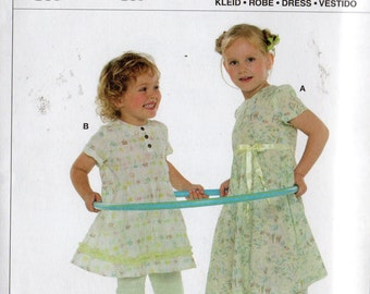 Burda Pattern 9612 GIRLS DRESSES Sizes  2 - 7