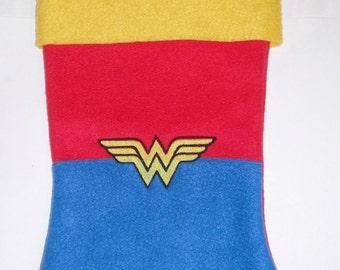 Gorgeous Wonder Woman Personalizat Christmas Stocking