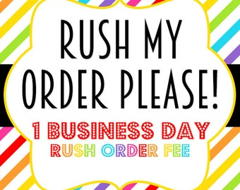 Rush my order fee - 10 USD - need your items in a rush - 1 day processing fee