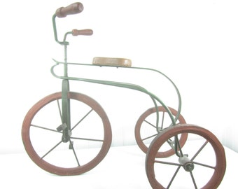 Vintage Doll Tricycle, Photo Prop, Metal Trike