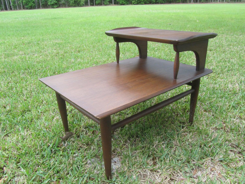 Danish modern end table wood side mid century