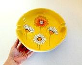 Mid Century Ceramic Ashtray Italian Studio Pottery Mod