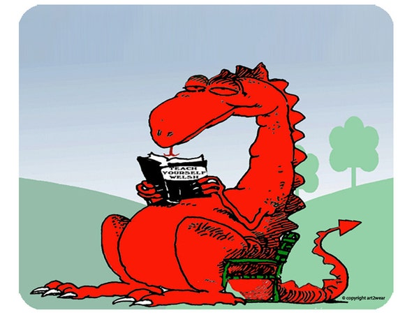 Welsh Dragon Learned Dragon -  Mouse Mat Mouse Pad