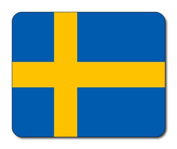 Swedish Flag Mouse Mat Mouse Pad
