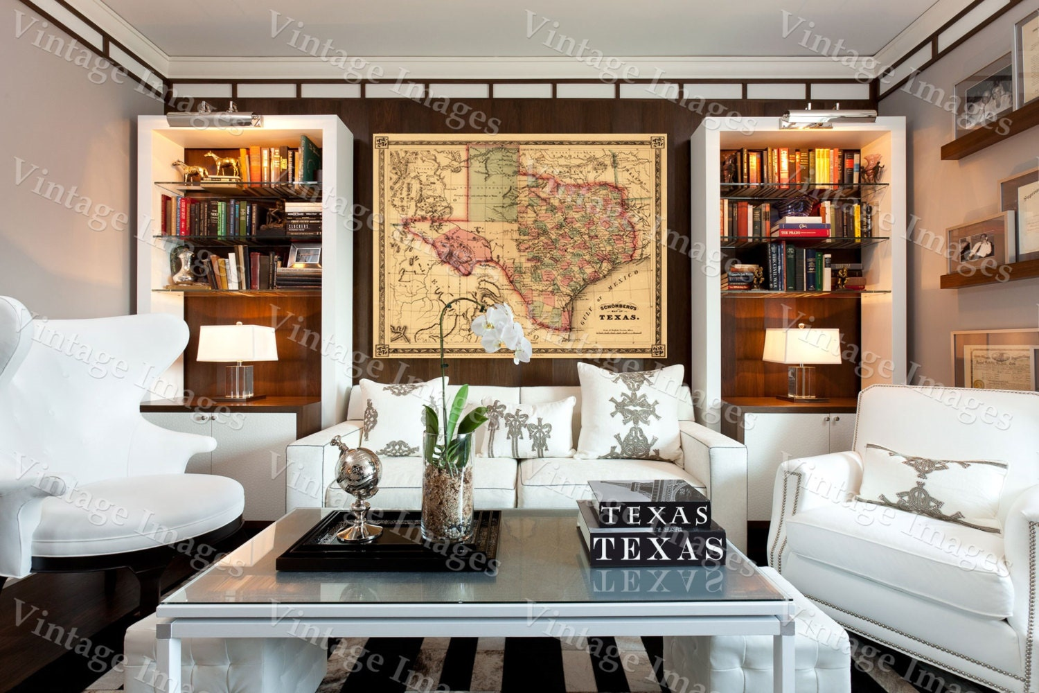 Giant 1866 Texas Old West Map Antique Restoration Hardware Style Wall Map Fine Art Print Poster Home Decor