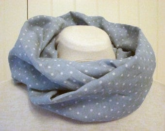 infinity scarf cotton blue