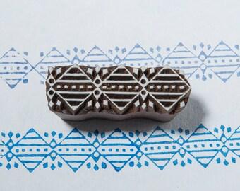Abstract 0003, wooden printing block