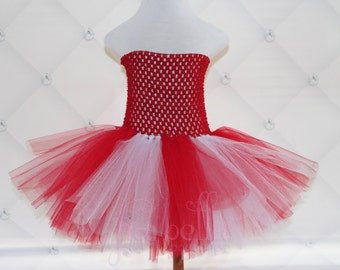 TUTU DRESS.Red and White Valentines & Christmas Tutu.Newborn Tutu.Baby Tutu.Toddler Tutu.Cakesmash Tutu.Birthday Tutu.Summer Dress