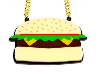 Acrylic Burger Necklace