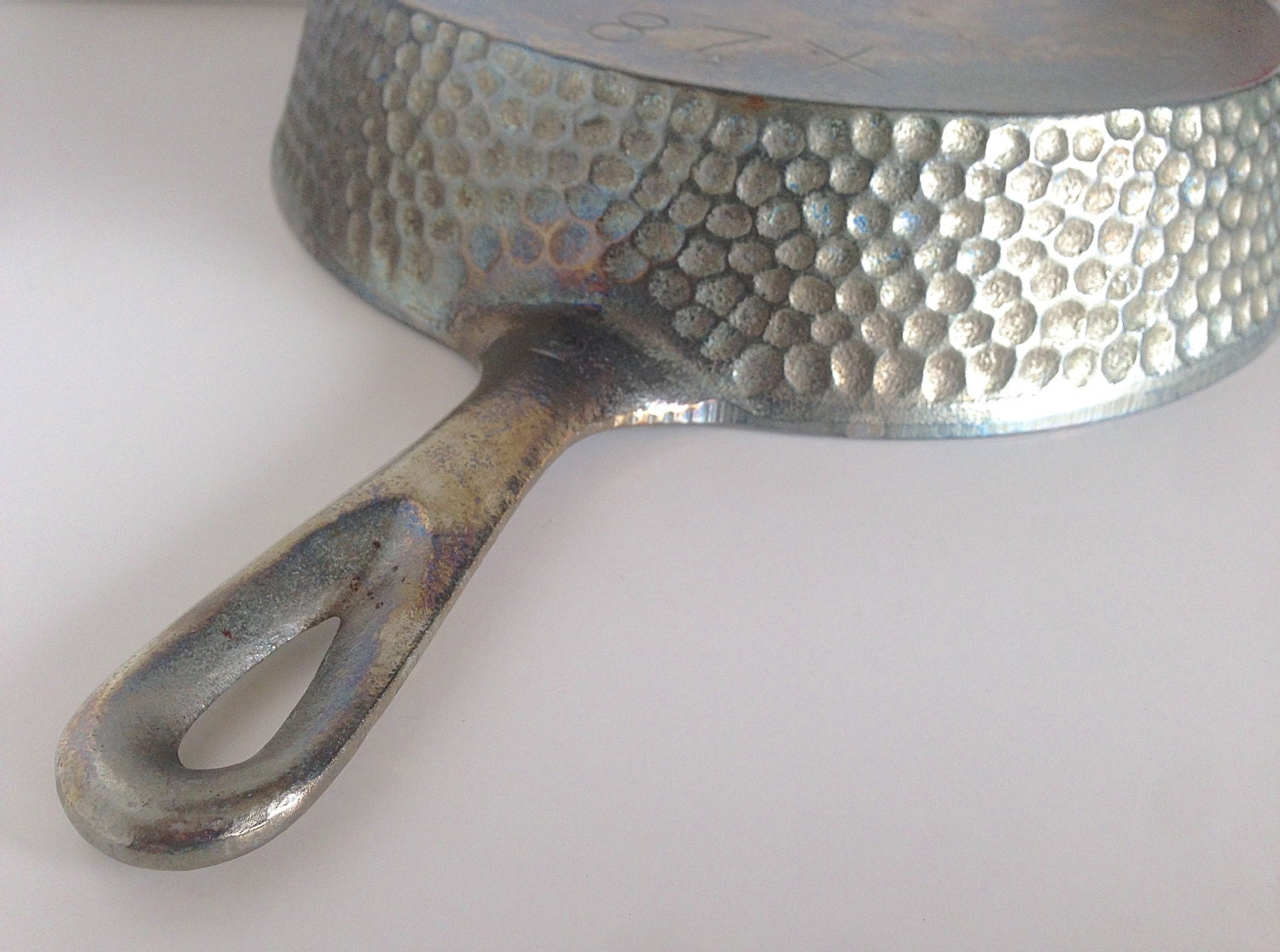 Chicago Hardware Foundry Skillet Chrome Plated Hammered Cast