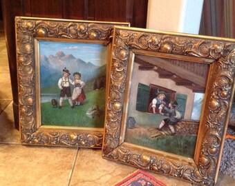 Vintage German Children Paintings