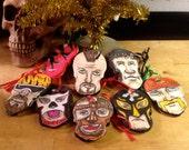 Pro Wrestler Ornaments of Doom (Set of Eight)