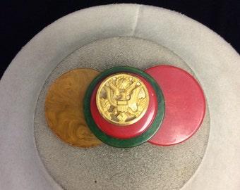 Vintage Bakelite WW II Pin