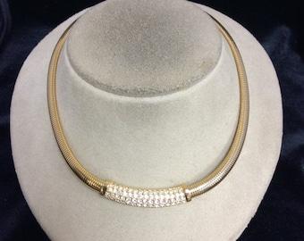 Vintage Signed Swarovski Collar Necklace