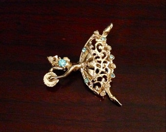 30% DISCOUNT SALE Set of Vintage Golden Dancer Pins (#2)