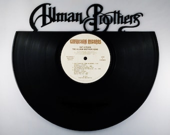 Recycled Vinyl Record ALLMAN BROTHERS Wall Art