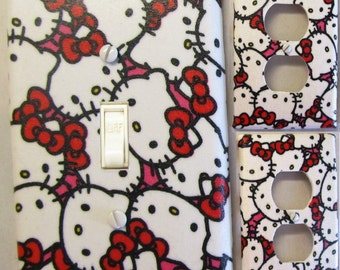 Hello Kitty Light Switch and Outlet Covers