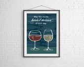 Wine - Wine Glasses Print - Wien Art - Wall Art Illustration - Drinking Illustration - Bar Decor - Bar Art - Wine Poster