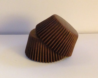 50 count -  Glassine Brown standard size cupcake liners/baking cups