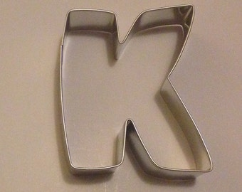 """3"""" Letter K Cookie Cutter"""