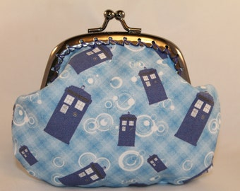 Dr Who Plaid Tardis Coin Purse