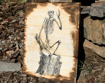 Monkey Skeleton print