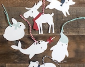 Printable Template for Winter Animal Gift Tags and Ornaments