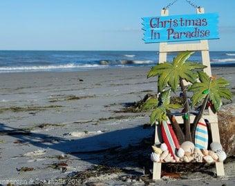 Christmas in Paradise! Seashell Decor #CIJ2016