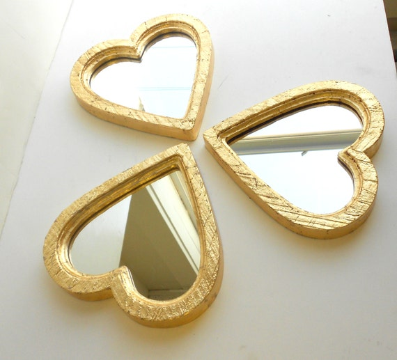 6x6 mirrors gold heart mirrors decorative