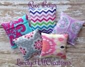 5 - (2x2) Rice Bags for Nail Shields / Nail Wraps Application