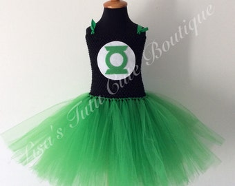 Green lantern tutu, green lantern tutu dress, green lantern costume, green lantern dress, green lantern halloween costume.