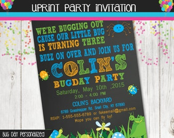 Bug Party Invitation - Insect Party Invitation  - Printable