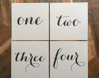 Square Table Numbers