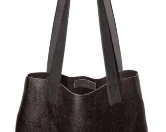 Leather bag, tote bag, leather tote, black tote