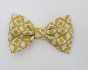 Boy Mustard bow tie, clip on bow ties for baby and toddlers, mustard bow ties, baby boy bow tie