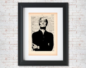 Claire Underwood Silhouette House of cards Dictionary art print - Upcycled dictionary art - Book print page art  #014