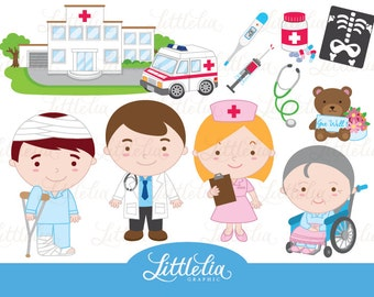 Doctor - Hospital - Clipart 14032 instant download