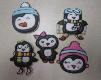 Cute Penguin Cookies