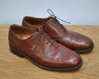 Vintage LOTTUSSE SELECTION 1877 mens oxford brogue shoes ....(001)