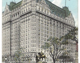 The Plaza Hotel - New York City - 1913 Postcard